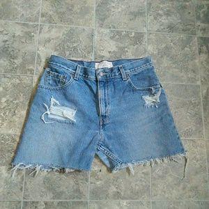 Vintage Levi Strauss Distressed Shorts!